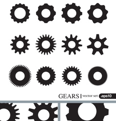 Gear icons design elements Gears Silhouettes set vector image vector image