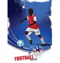 poster soccer vector image vector image