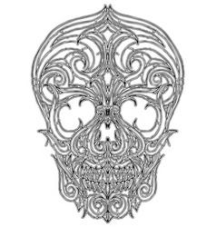 skull tattoo vector image vector image