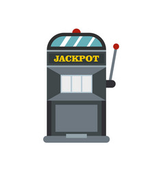 slot machine icon flat style vector image vector image