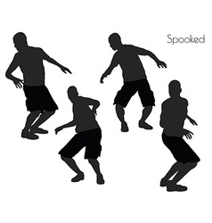 Spooked pose on white background vector