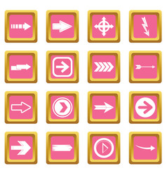arrow icons pink vector image