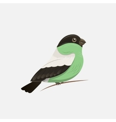 bird on a branch design and postcards vector image
