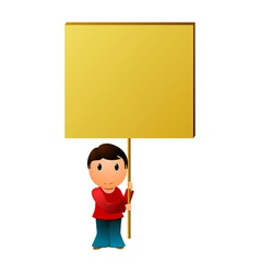 boy with the message board vector image