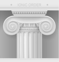 capital of ionic column vector image