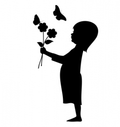 Flower girl vector