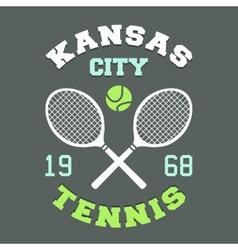 Kansas city tennis t-shirt vector
