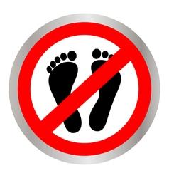 No feet sign vector image vector image