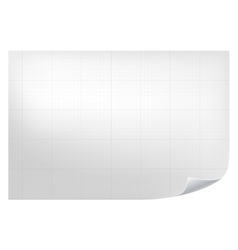 Technical grid background Realistic blank paper vector image