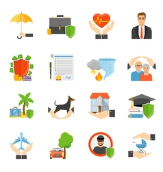 1608i124008Pm004c23insurance icons flat vector image