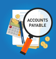 Accounts payable accounting term within vector