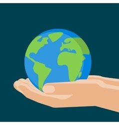 Agricultural concept earth sphere in the hands vector image
