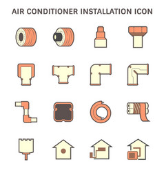 Air conditioner installation tool and pipe cover vector