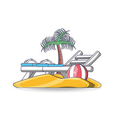 beach chair summer holiday vacation vector image
