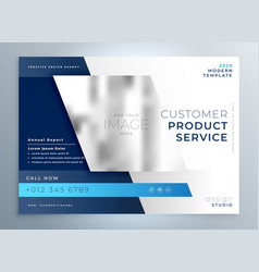 Blue business brochure presentation template vector
