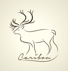 Caribou logo vector image