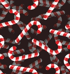 Christmas candy seamless pattern 3D background vector image