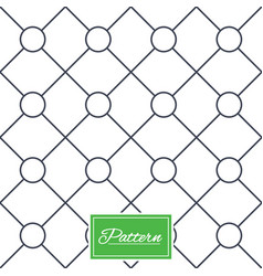 Circles grid stripped seamless pattern vector