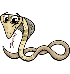 Cobra animal cartoon vector