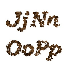 Coffee seed font vector