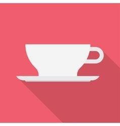 Coffee tea cup icon vector image