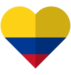 Colombia flat heart flag vector image