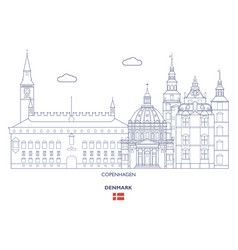 Copenhagen city skyline vector