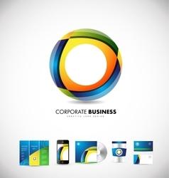 Corporate business circle 3d logo design vector