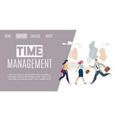 daily life time management flat web banner vector image