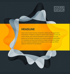 dark abstract business cover design template vector image
