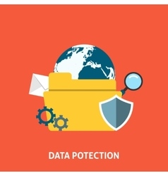Data protection concept vector