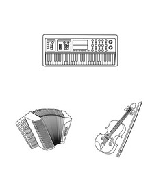 design of music and tune logo set of music vector image