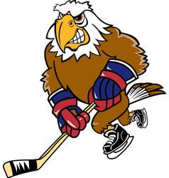 Eagle sports hockey logo mascot vector