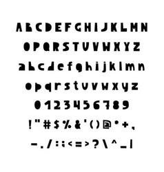 english alphabet in scandinavian vector image