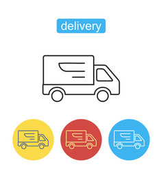 Fast shipping delivery truck icon vector