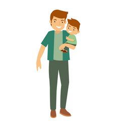 father and son playing loving family vector image