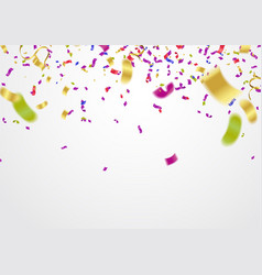 festive balloons background and colorful confetti vector image