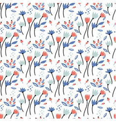 floral bouquet pattern with small flowers vector image