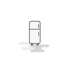 fridge web icon flat line filled gray icon vector image