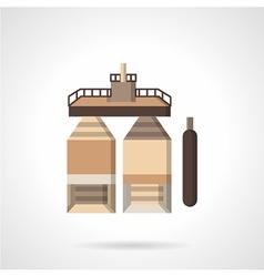 Fuel storage flat icon vector image