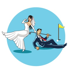 Get Married to Golfer vector image