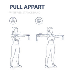 Girl doing pull appart home workout exercise vector