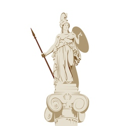 Greek statue of Athena vector