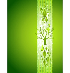 Green Tree Eco Background with Leafs vector image