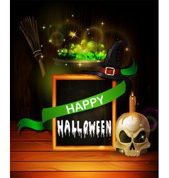 Halloween skull realistic with heat isolated on vector
