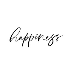 Happiness word lettering vector