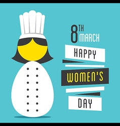 Happy womens day women chef profession design vector