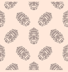 hawaii tiki mask seamless simple pattern vector image