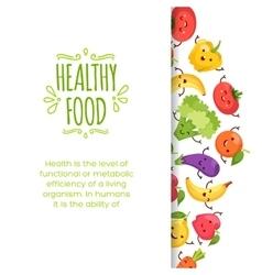 Healthy food cartoon representing vector