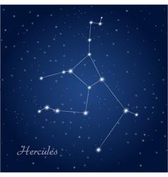 Hercules constellation vector